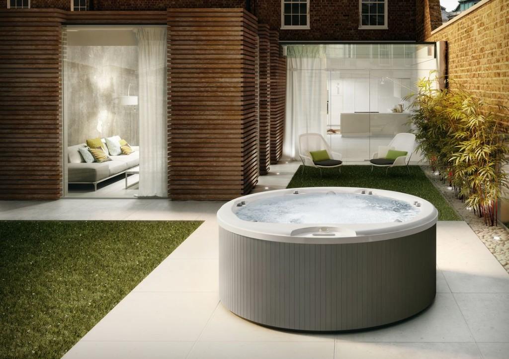 Italian Design Alimia – okrągły mini-basen Spa, 5-6 osobowy, o średnicy 212 cm i wysokości 90 cm.