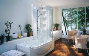 zestaw prysznicowy plus wanna jacuzzi